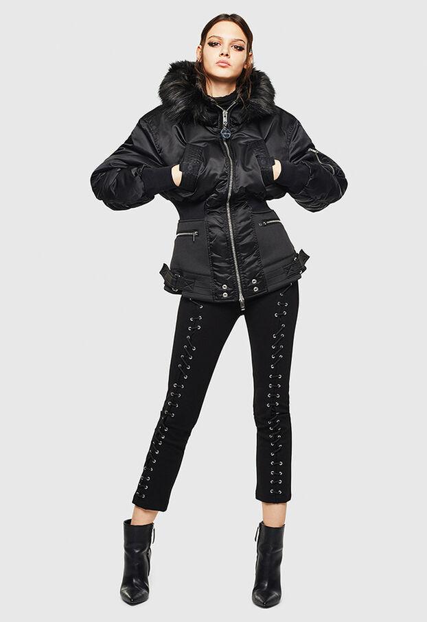 W-ISOKE-A, Black - Winter Jackets