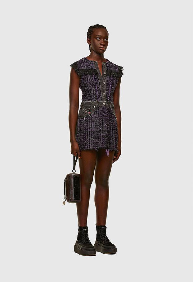 D-OLGA, Black/Violet - Dresses
