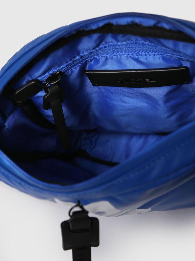 Diesel - F-BOLD SMALL CROSS, Brilliant Blue - Crossbody Bags - Image 4
