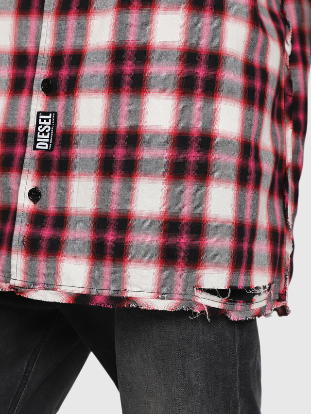 Diesel - S-MACHITO, Pink/White - Shirts - Image 3