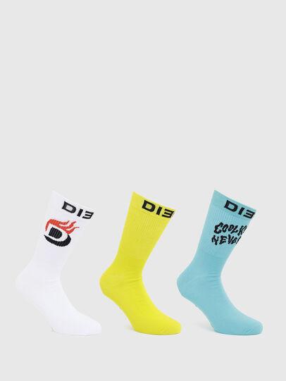 Diesel - SKM-RAY-THREEPACK, White/Blue - Socks - Image 1
