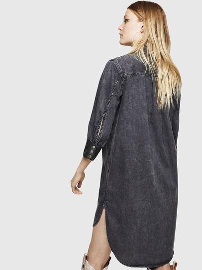 Diesel - DE-BLANK, Black/Dark grey - Dresses - Image 2