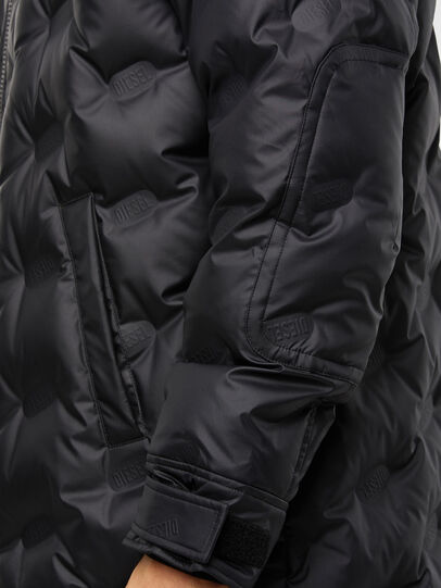 Diesel - W-RUSSELL-LONG-THERM, Black - Winter Jackets - Image 5