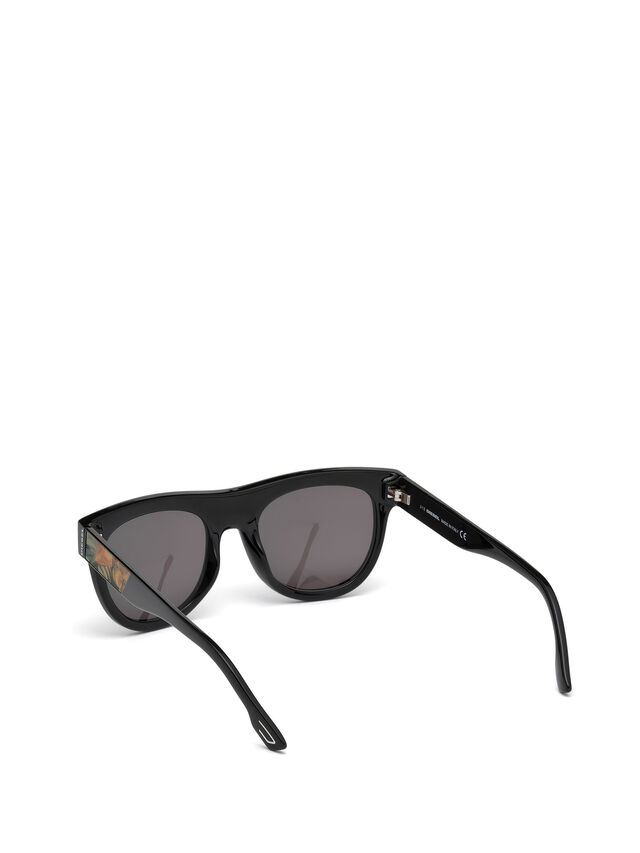 Diesel - DM0160, Black/Orange - Eyewear - Image 2
