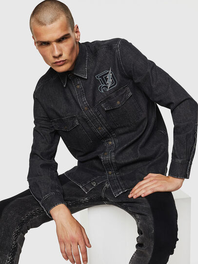 Diesel - D-BANDY-B, Black - Denim Shirts - Image 3