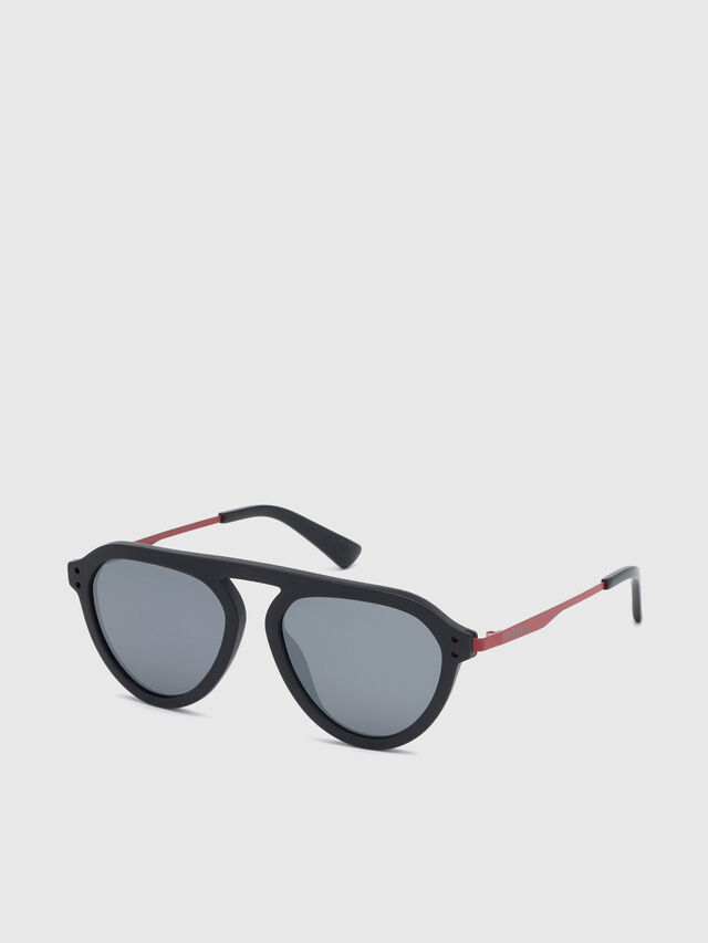 Diesel - DL0277, Black/Red - Eyewear - Image 2
