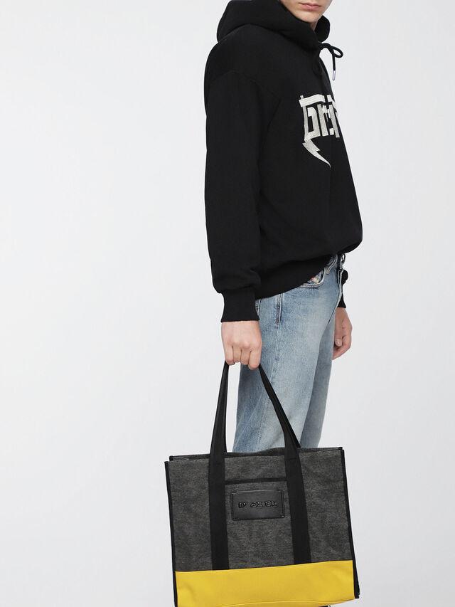 Diesel - M-CAGE SHOPPER, Dark Melange - Shopping and Shoulder Bags - Image 4
