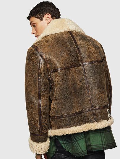 Diesel - L-BALASOVI, Brown - Leather jackets - Image 2