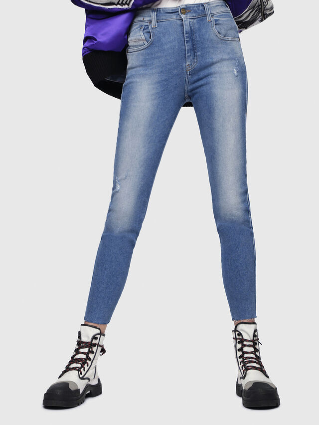 Diesel - Slandy High 086AB, Medium blue - Jeans - Image 1