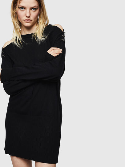 Diesel - M-MERS, Black - Knitwear - Image 1