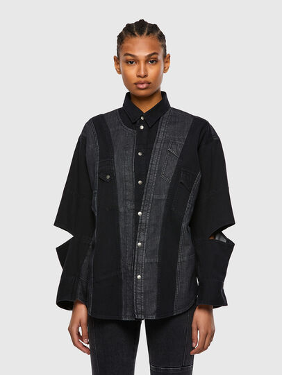 Diesel - DE-RINGLE, Black - Denim Shirts - Image 1