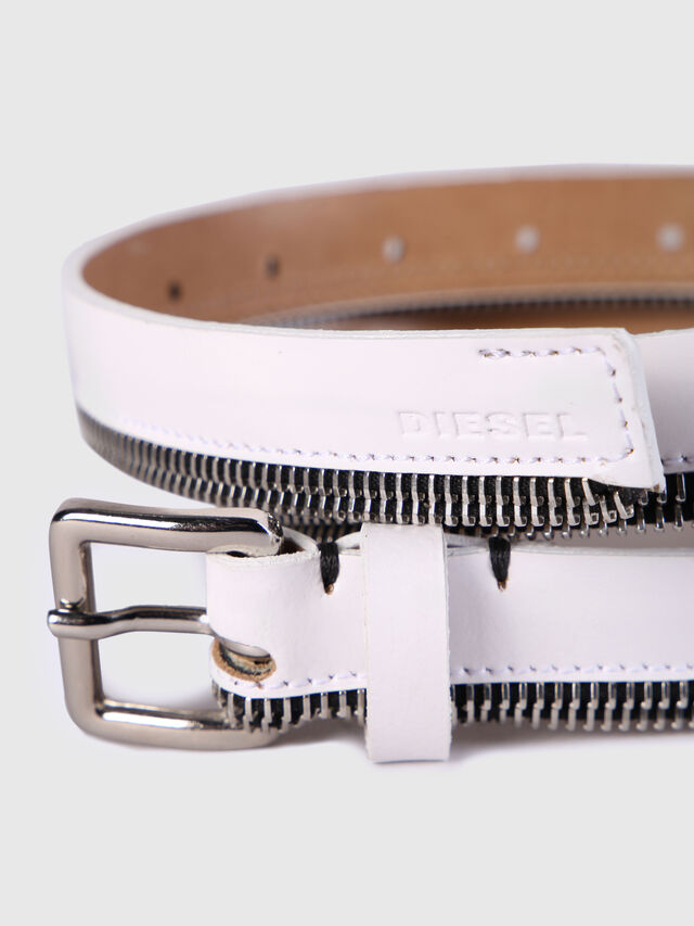 Diesel - B-ZIPPER, White - Belts - Image 2