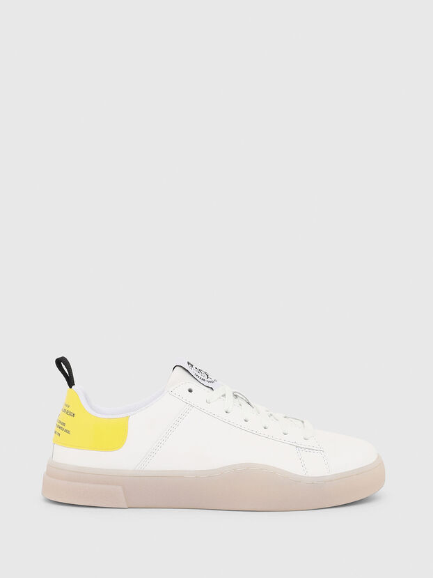 S-CLEVER LOW LACE W, White/Yellow - Sneakers