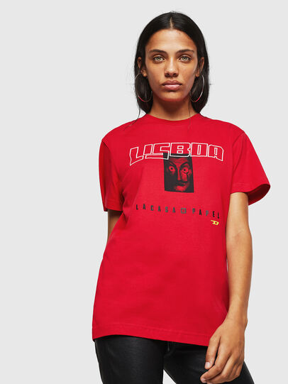 Diesel - LCP-T-DIEGO-LISBOA, Red - T-Shirts - Image 2
