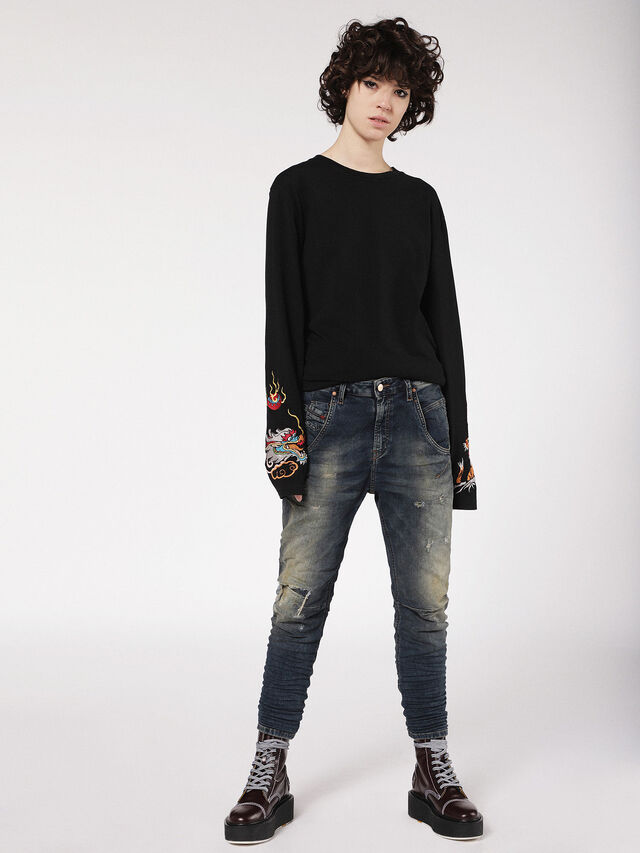 Diesel - Fayza JoggJeans 0699V, Dark Blue - Jeans - Image 4