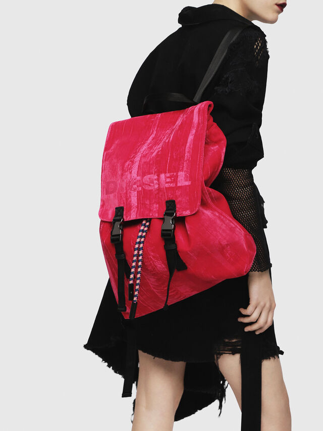 Diesel - F-MUSILE BACKPACK, Pink Fluo - Clutches - Image 5