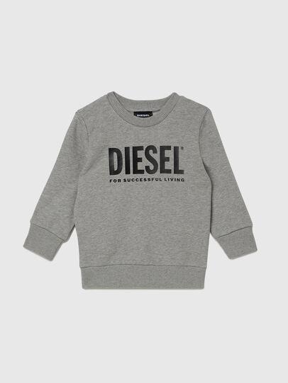 Diesel - SCREWDIVISION-LOGOB-, Grey - Sweaters - Image 1