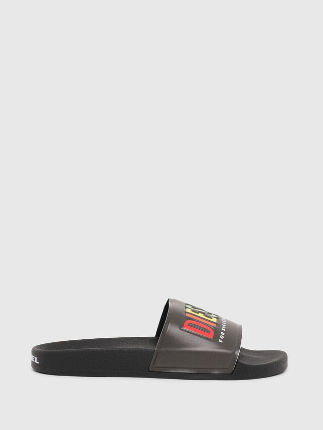 Diesel - SA-VALLA, Black - Slippers - Image 1