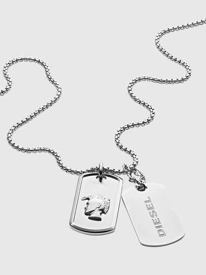 Diesel - DX1210, Silver - Necklaces - Image 2