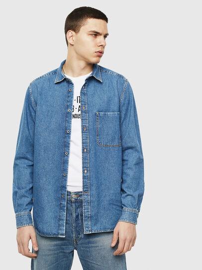 Diesel - D-BER-P, Blue Jeans - Denim Shirts - Image 6