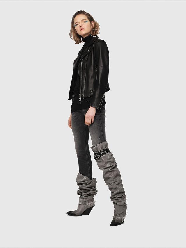 Diesel - Krailey JoggJeans 0077T, Black/Dark grey - Jeans - Image 5