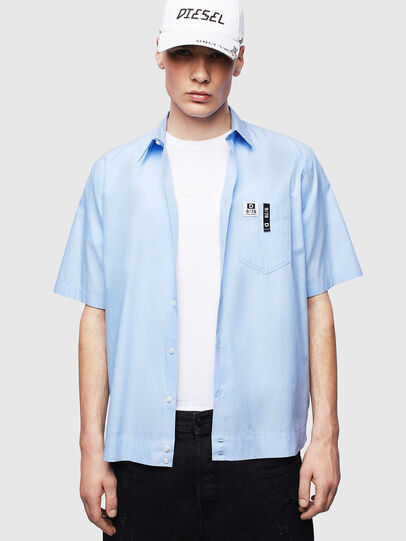 Diesel - S-FRY-FLUO, Light Blue - Shirts - Image 4