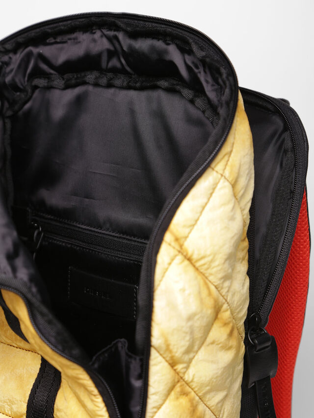 Diesel - F-HEYODA BACK, Yellow - Backpacks - Image 3