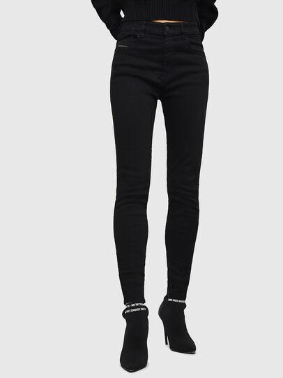 Diesel - Slandy High 069EF, Black/Dark grey - Jeans - Image 1