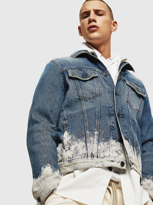 Diesel - NHILL, Light Blue - Denim Jackets - Image 4