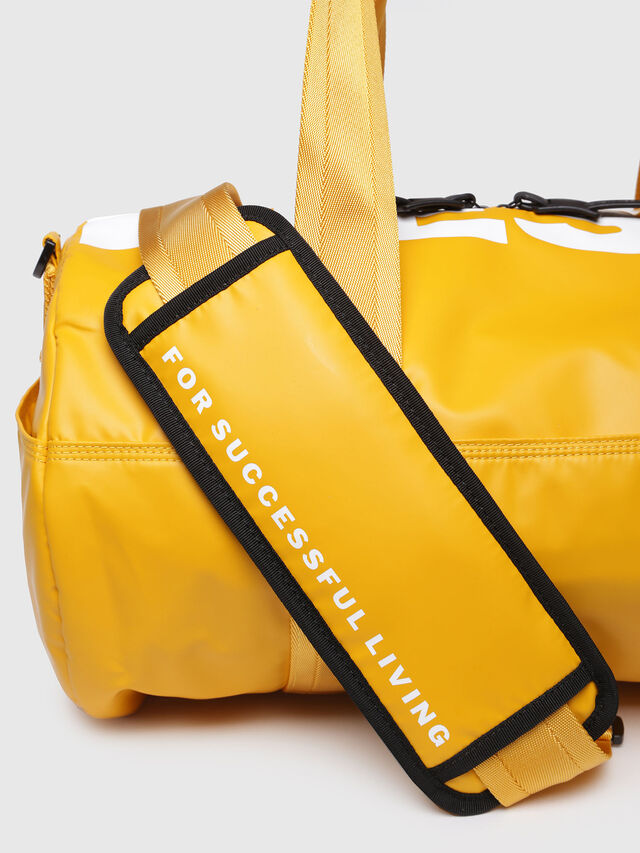 Diesel - F-BOLD DUFFLE, Yellow Ocher - Travel Bags - Image 3