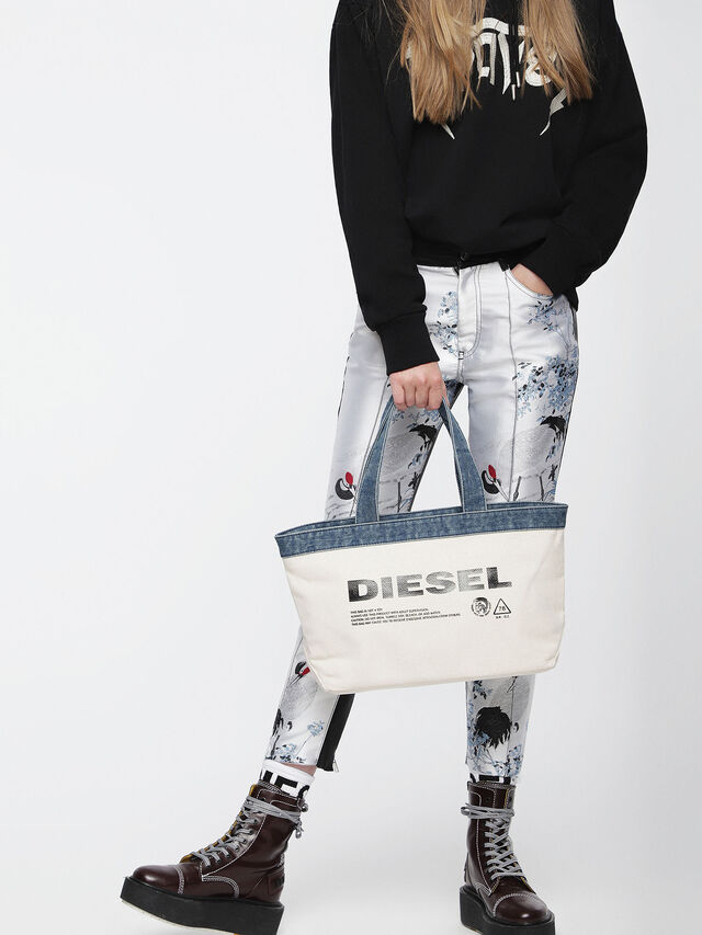 Diesel - F-MHICO SHOPPER M, Cream - Shopping and Shoulder Bags - Image 4