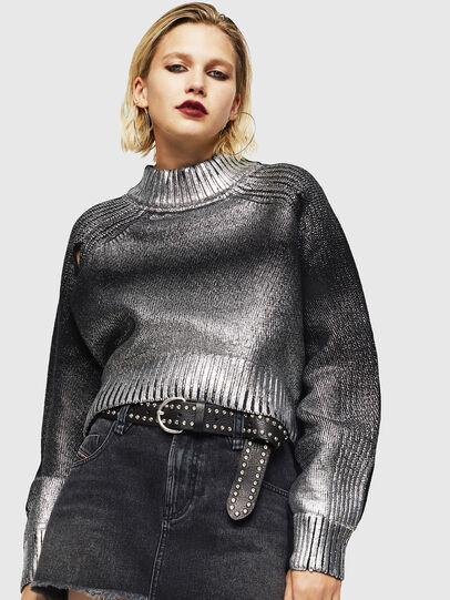 Diesel - M-FOLLY-A, Black/Silver - Knitwear - Image 1