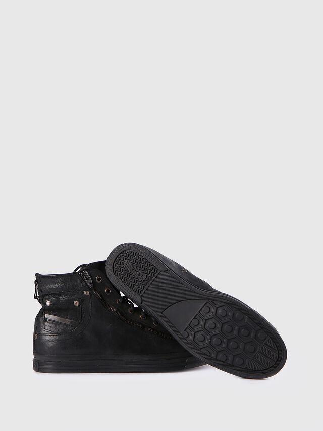 Diesel - EXPO-ZIP, Black Leather - Sneakers - Image 4