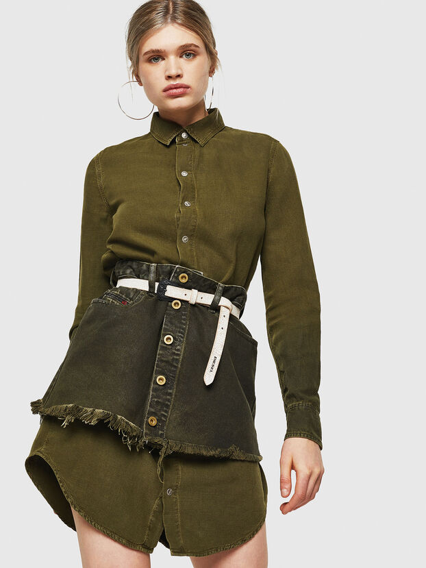 DE-DESY-Z, Military Green - Dresses