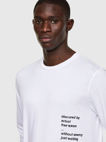 Diesel - T-JUST-LS-A30, White - T-Shirts - Image 3