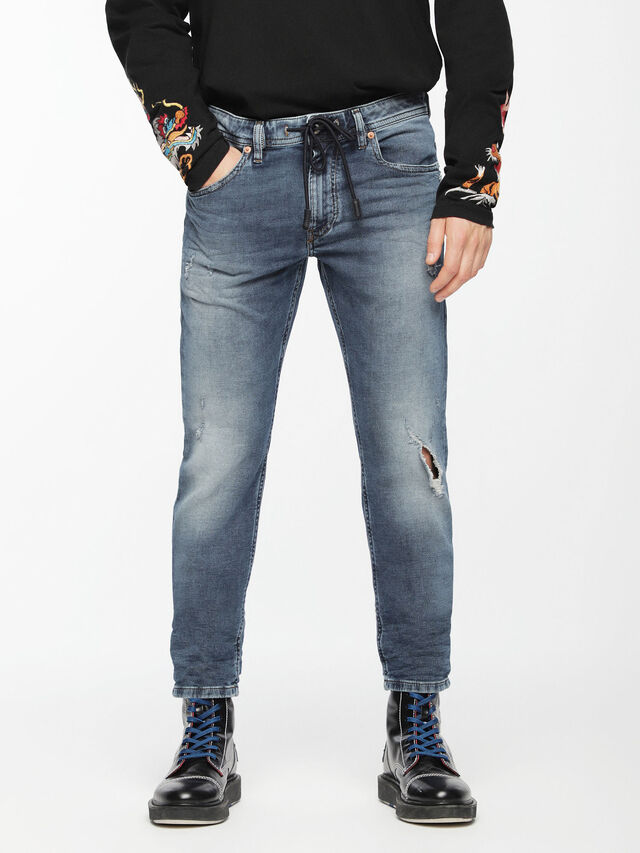Diesel - Thommer JoggJeans 084TZ, Medium blue - Jeans - Image 1