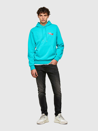 Diesel - S-GIRK-HOOD-K3, Azure - Sweaters - Image 4