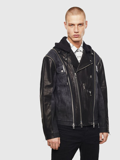 Diesel - D-LOSTY-SY, Black - Leather jackets - Image 1