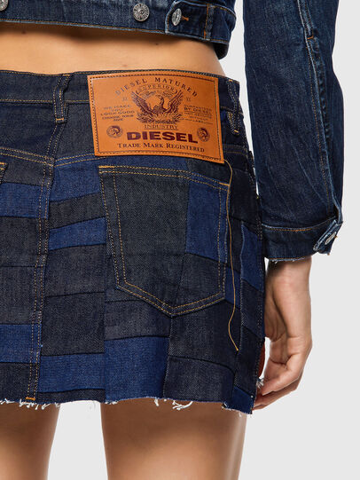 Diesel - DE-JEYJEY, Medium blue - Skirts - Image 3
