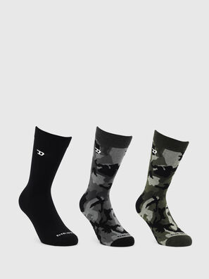 SKM-RAY-THREEPACK, Black/Green - Socks