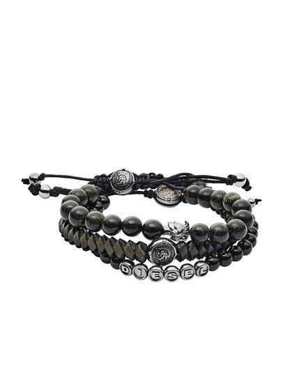 Diesel - BRACELET DX1100, Black - Bracelets - Image 1