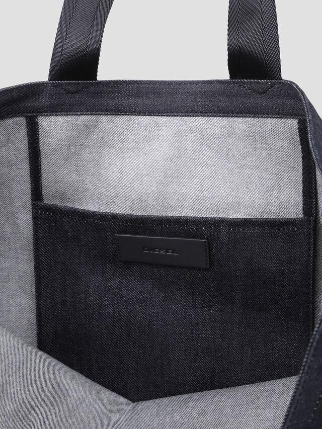 Diesel - D-THISBAG SHOPPER L, Blue Jeans - Shopping and Shoulder Bags - Image 4