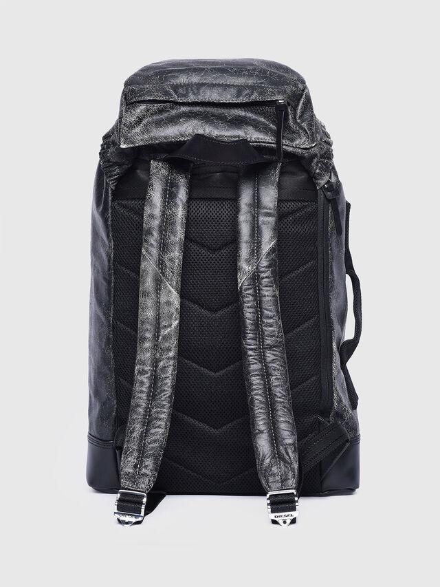 Diesel - L-BLAID RANNER BACK, Black Leather - Backpacks - Image 2