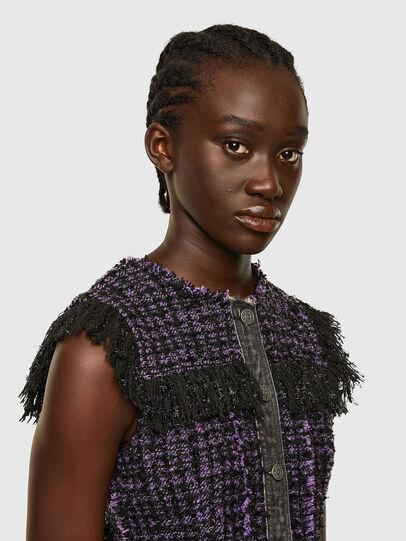 Diesel - D-OLGA, Black/Violet - Dresses - Image 3
