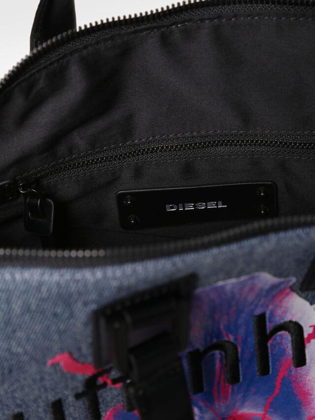 Diesel - AKAPULKO SATCHEL S, Blue Jeans - Satchels and Handbags - Image 3