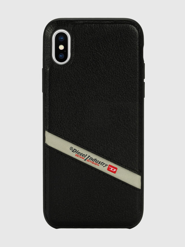Diesel - DIESEL LEATHER CO-MOLD CASE FOR IPHONE XS MAX, Black - Cases - Image 2