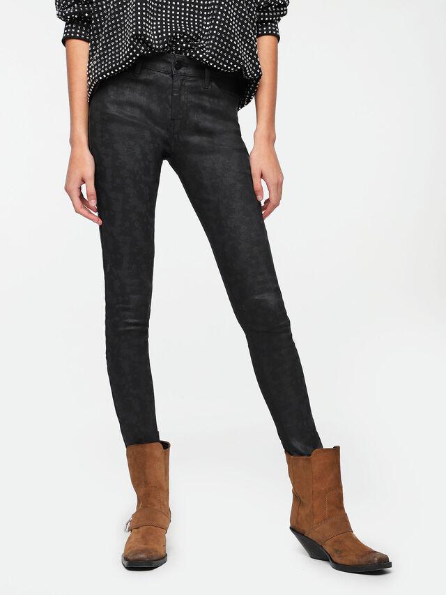 Diesel - Slandy Zip 085AX, Black/Dark grey - Jeans - Image 1