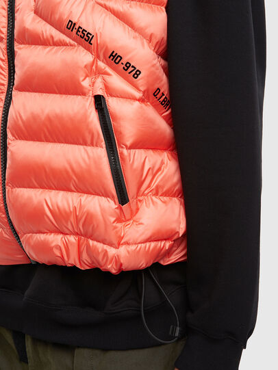 Diesel - W-DWAIN-SL, Pink - Winter Jackets - Image 3