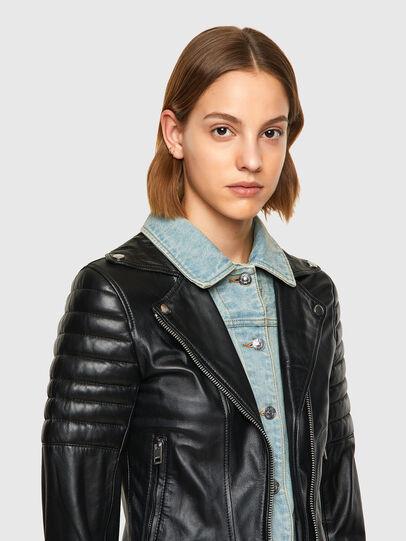 Diesel - L-AURO, Black - Leather jackets - Image 3