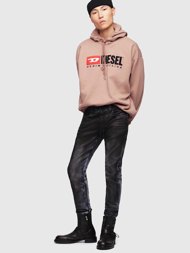Diesel - Thommer JoggJeans 086AZ, Black/Dark grey - Jeans - Image 4